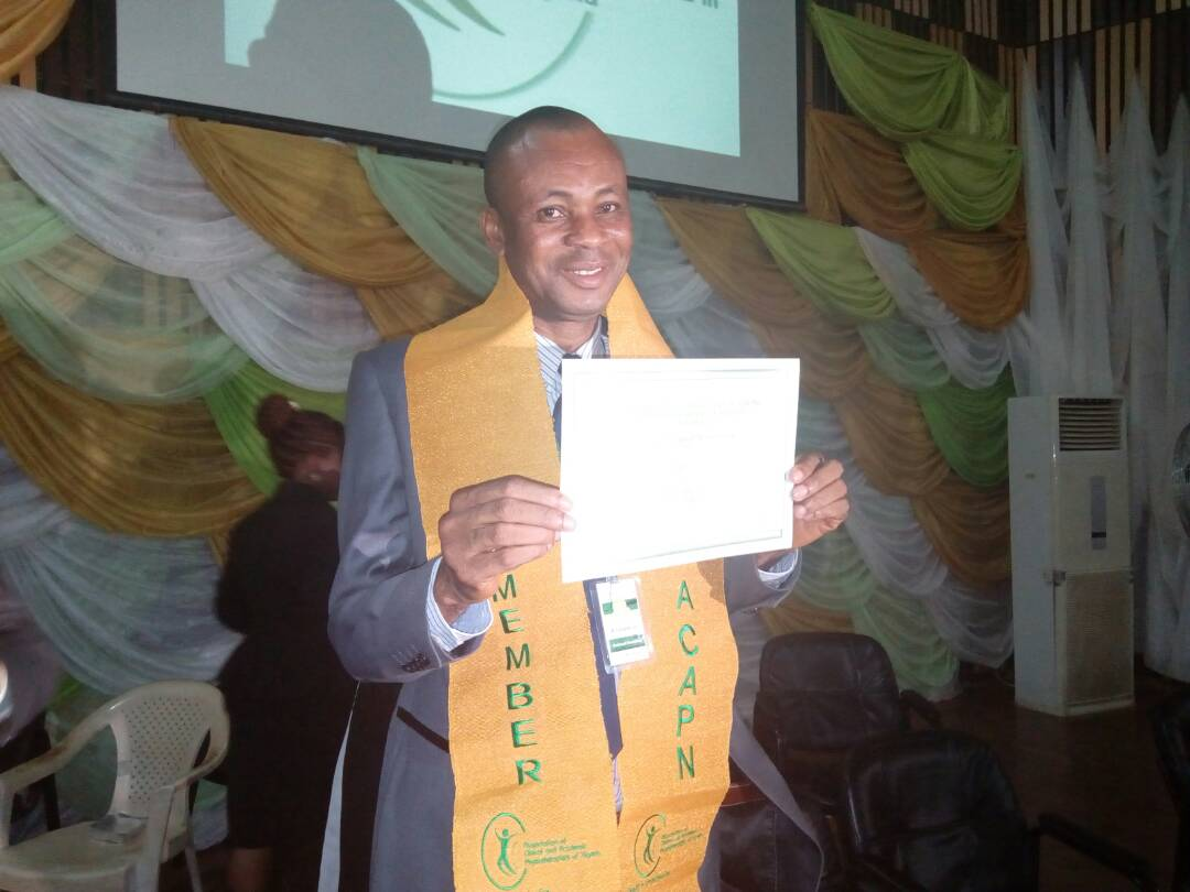 President with his membership certificate