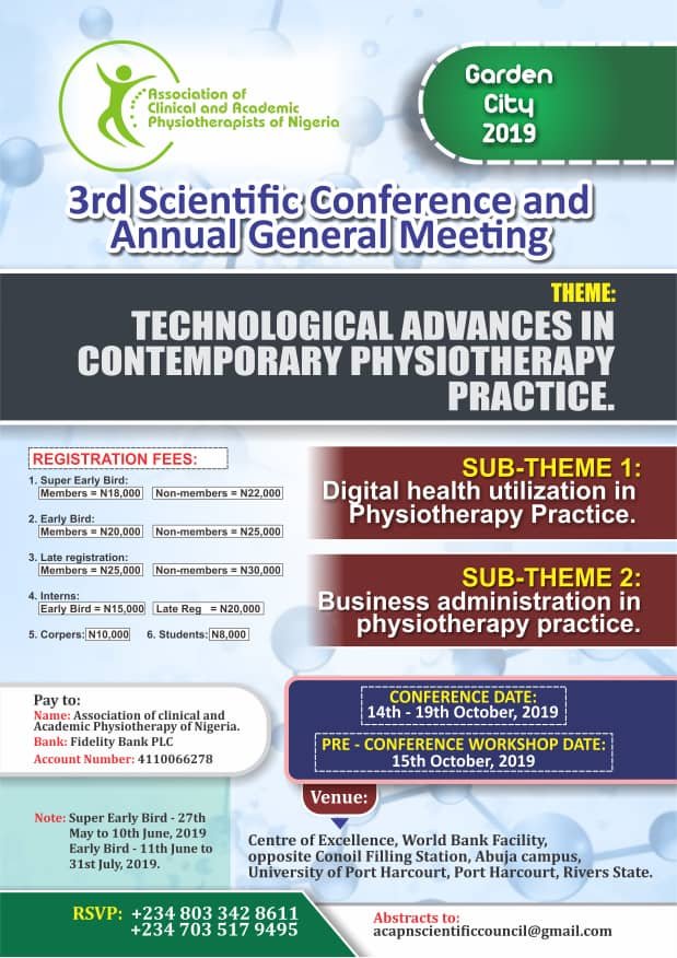 3RD SCIENTIFIC CONFERENCE AND ANNUAL GENERAL MEETING